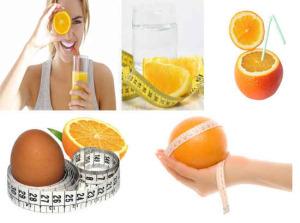 виды апельсиновых диет