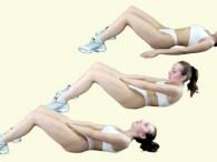 Упражнения для живота фото